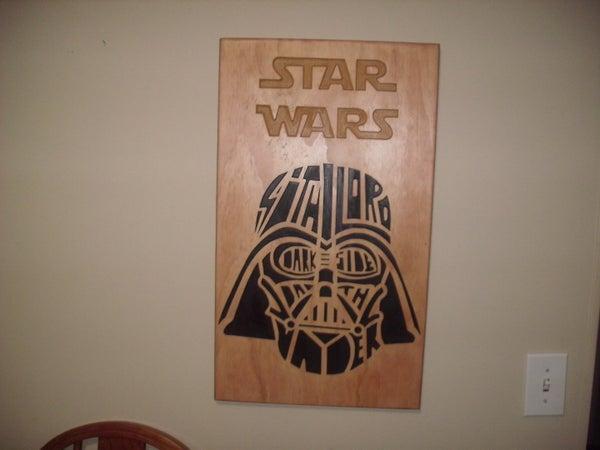 Darth Vader CNC Wall Art