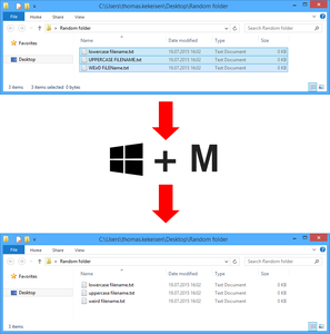 How to Lower Case All File Names in the Active Windows Folder Using AutoHotkey