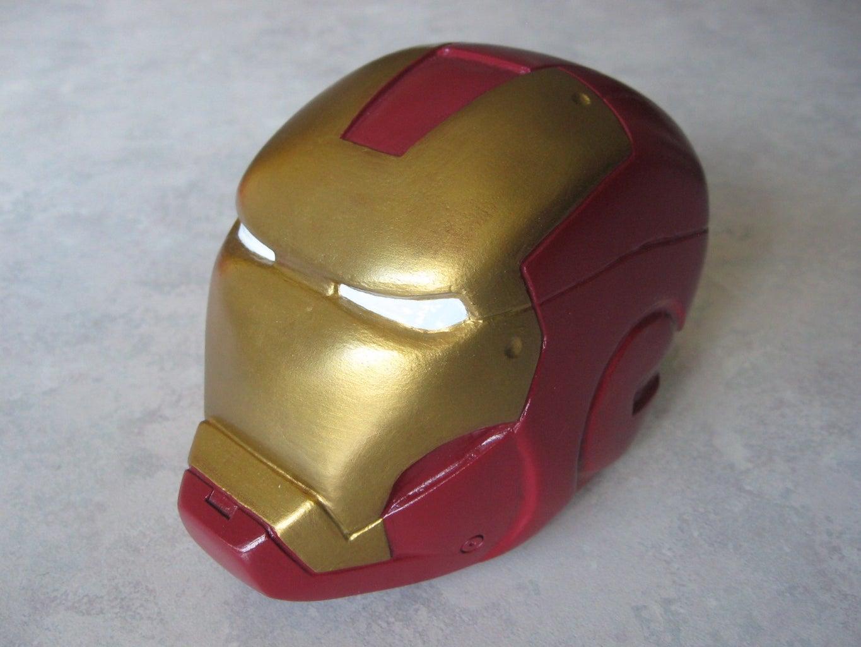Hand-carved Iron Man Head