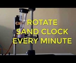 Rotate Sand CLOCK Every Minute Using Servo Motor - Arduino