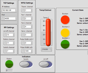 Using a Raspberry Pi to Control a WF32 With LabVIEW (Fan Control)
