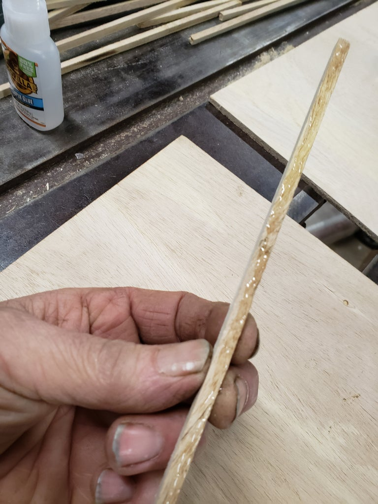 Glue Down Your Outer Frame...