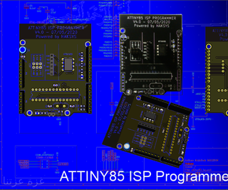 Yet Another ATTINY85 ISP Programmer Shield for Arduino