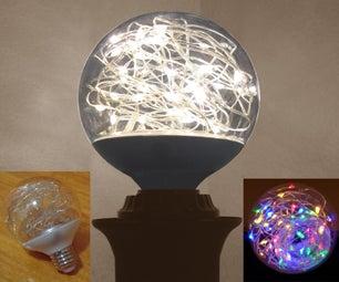 Turn G25 Light Bulbs Into Holiday FAIRY-BULBS