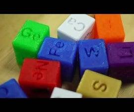 Periodic Table Element 3D Cubes / Tabla Periódica Elementos 3D