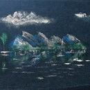 Acrylic Painting on Used Fabric