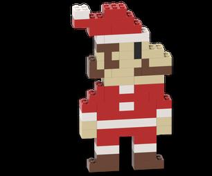How to Make a Retro Santa LEGO Mario - Christmas Build Instructions