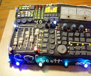 Soundboard Cake With Working Volt Meters