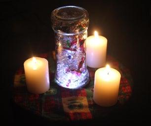 Holiday String Light Centerpiece