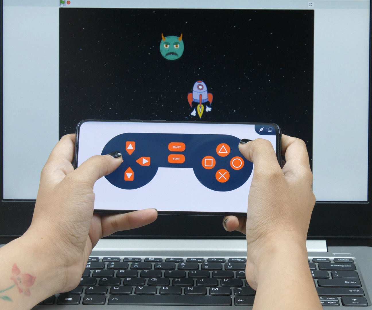 Make a Smartphone Controlled Space Battle in PictoBlox- Scratch 3.0 Based Programming Software