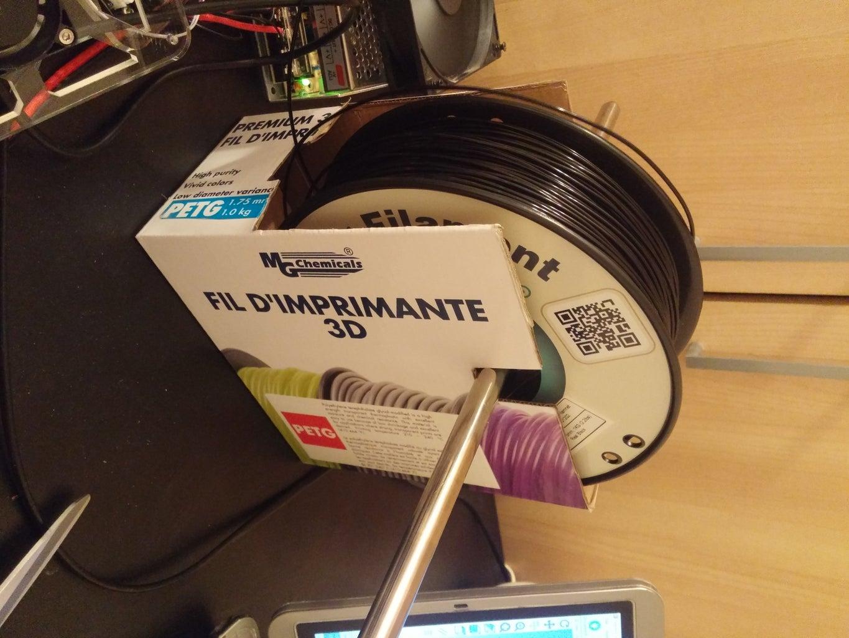 Life Hack: 30 Second 3D Printer Filament Spool Holder