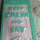 "Islamic Decorative Plaque ""Keep Calm and Say Allahu Akbar"""