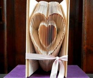 Valentine's Day - Folded Book Art - Heart Inside a Heart