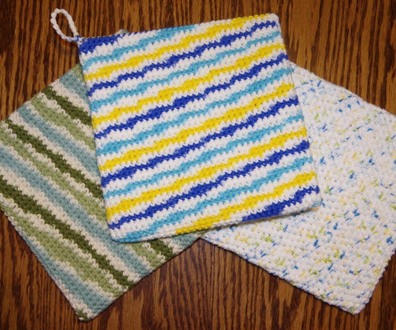 Double Thick Single Crochet Potholder