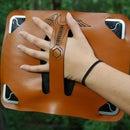 Laser Cut Leather iPad Handle