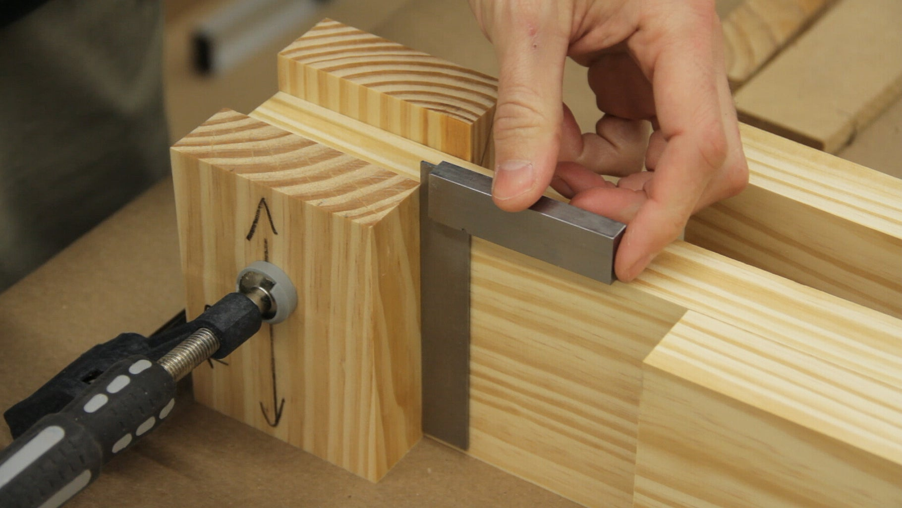 Laminating the Leg's Tenon and Lap Joints