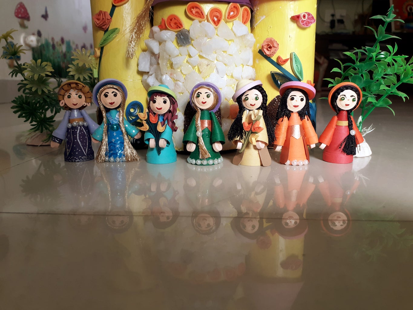 Arrangment of Dolls and Castle