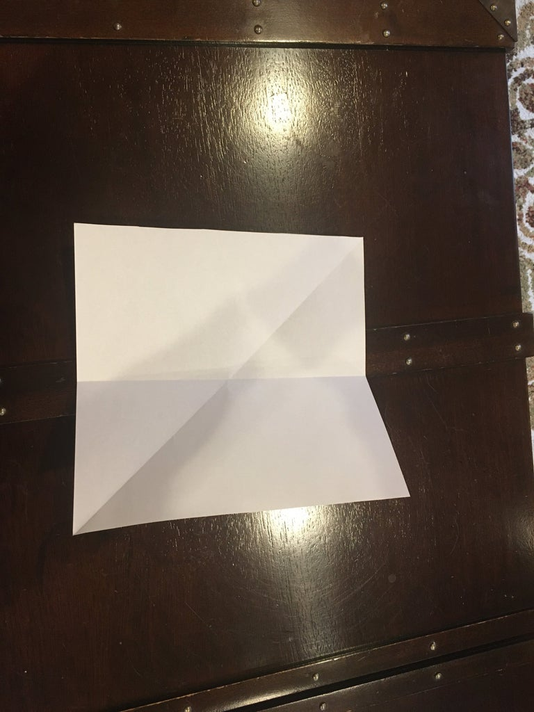 Fold in Half Then Unfold to Make Guideline