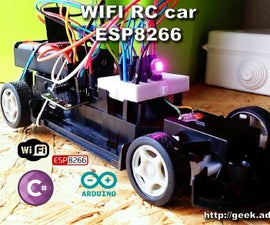 DIY WIFI RC Car With ESP8266 and Arduino IDE