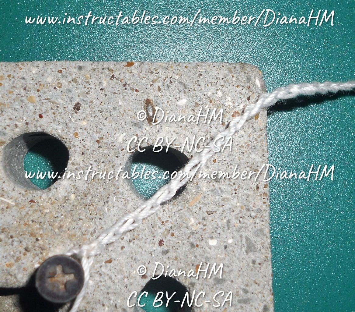 Crocheting Around the Concrete Part