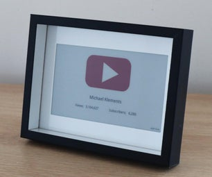 YouTube Subscriber Counter Using an E-Paper Display and Raspberry Pi Zero W