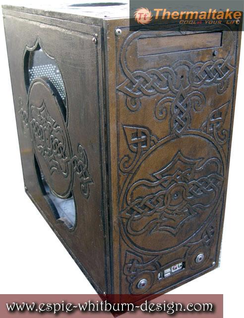 Wood Carved Computer Case