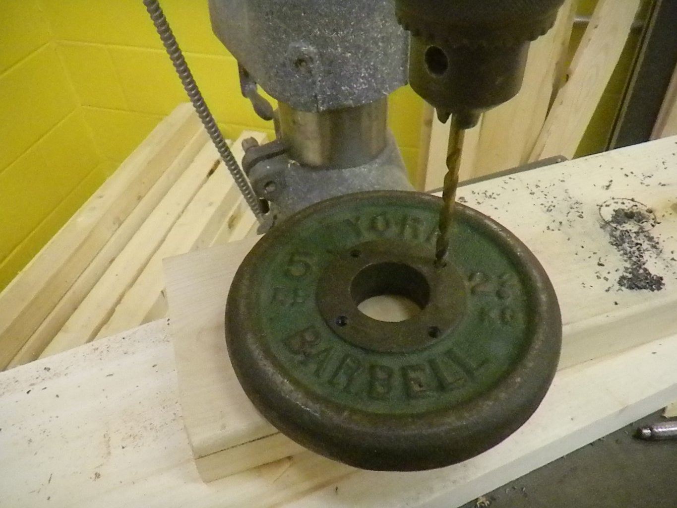 Drilling and Tapping the 5lb Weight