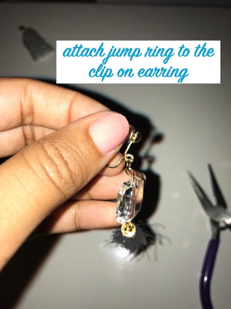 Attaching the Earring Back