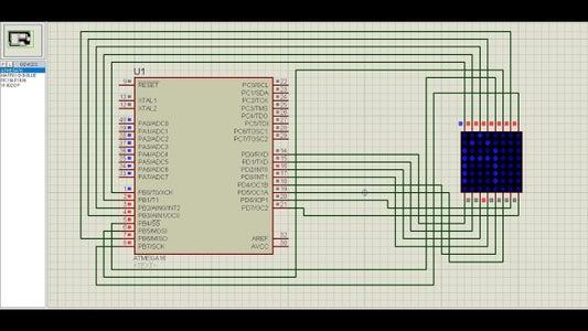 Interfacing Atmega16 Microcontroller With Dot Matrix Led Display