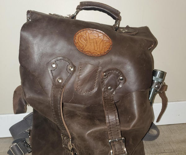 Commuter-Style Leather Backpack