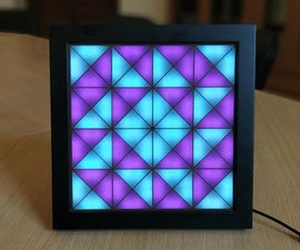 Half Square Triangles LED Art