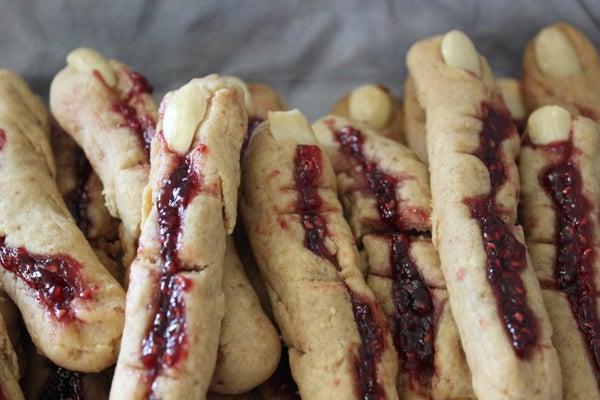 Disturbingly Creepy Finger Cookies
