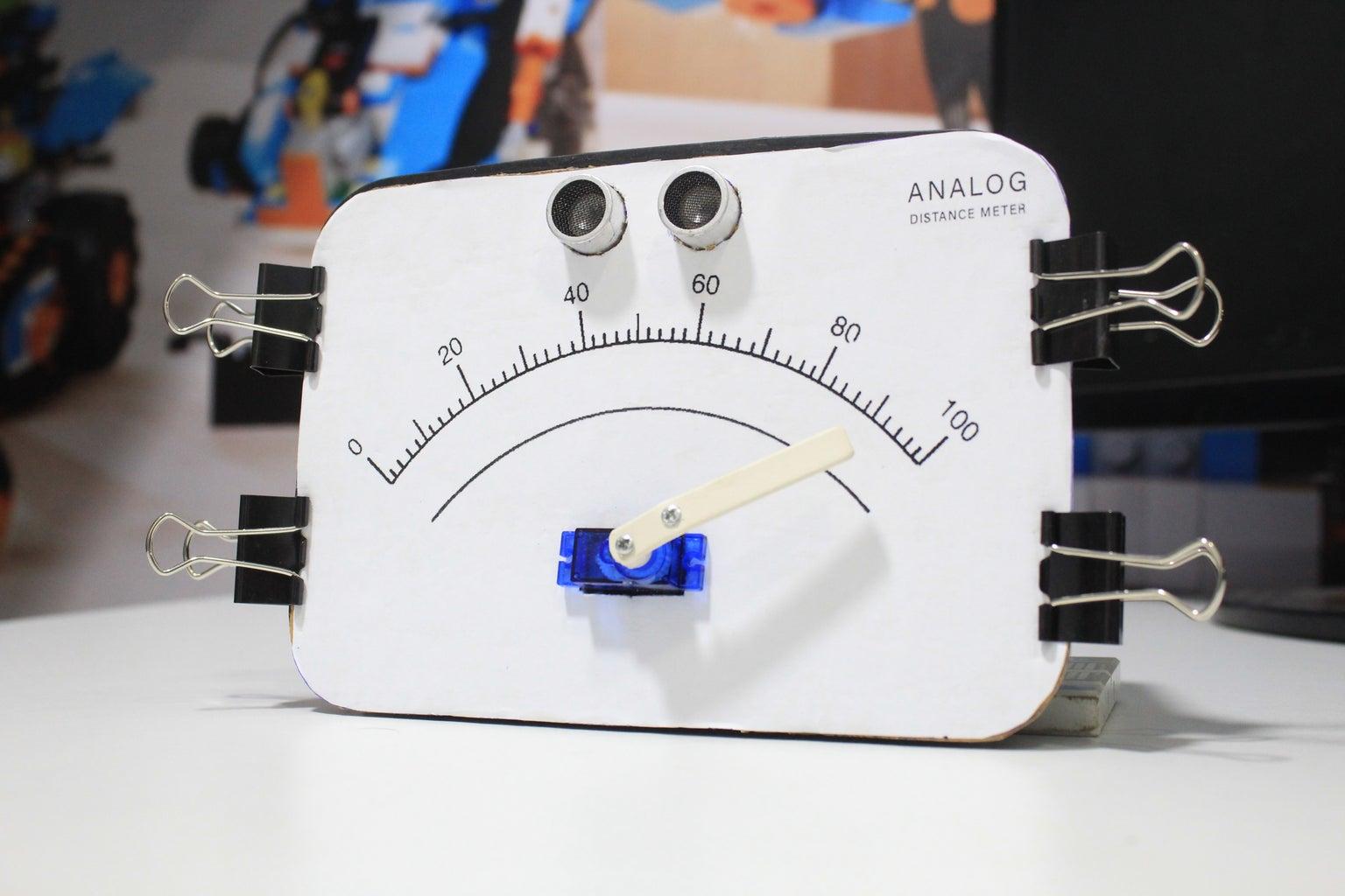 Analog Distance Measuring Meter Using Arduino & Ultrasonic Sensor
