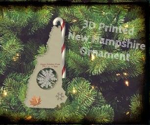New Hampshire Christmas Ornament