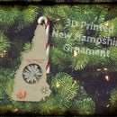 New Hampshire Christmas Ornament