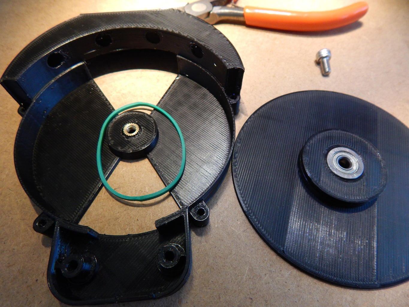 3D Printing Parts, Installing Bearing and Threaded Insert