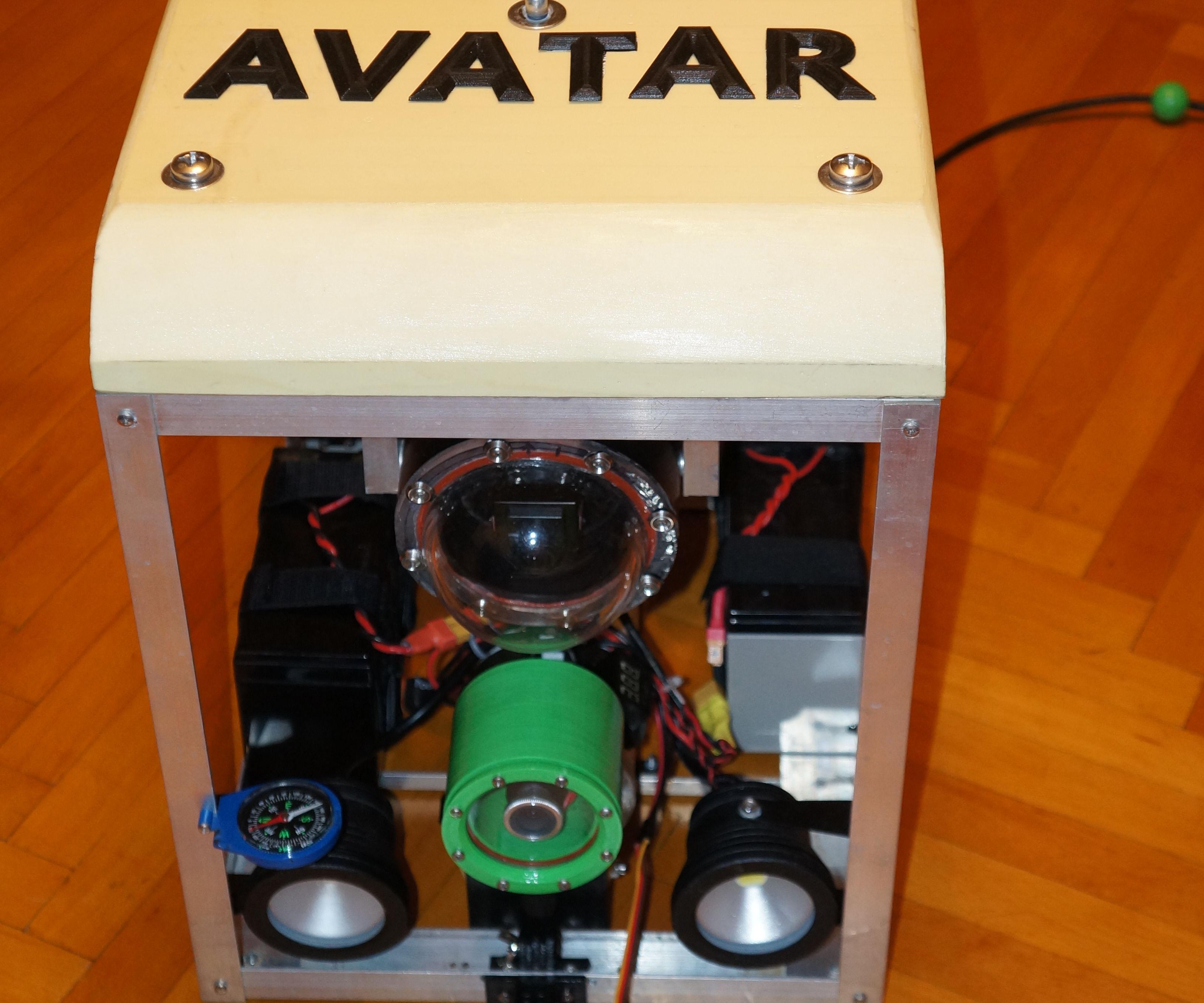 3d printed underwater ROV camera housing