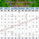 Full Spectrum Taco Seasoning Powder Recipe Designer Table