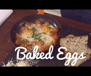 How to Make Baked Eggs With Tomatoes, Basil and Parmesan Cheese