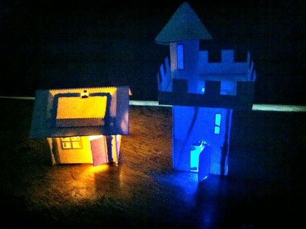 Simpler BARE Conductive Paint Paper Houses