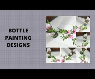 BOTTLE PAINTING DESIGNS