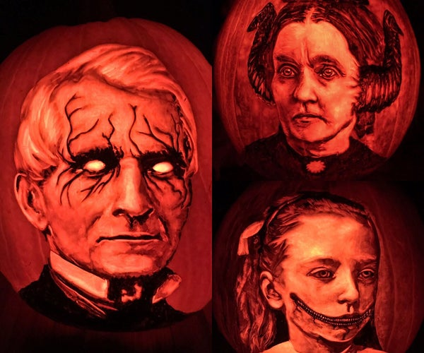 Detailed Portrait Pumpkin Carving