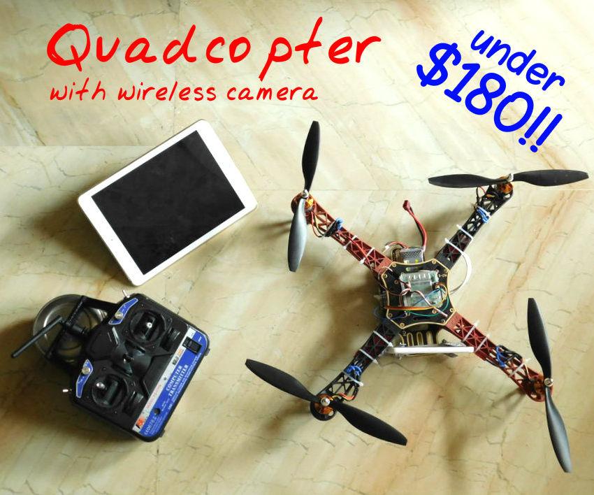 Make a quadcop with a wireless camera!!