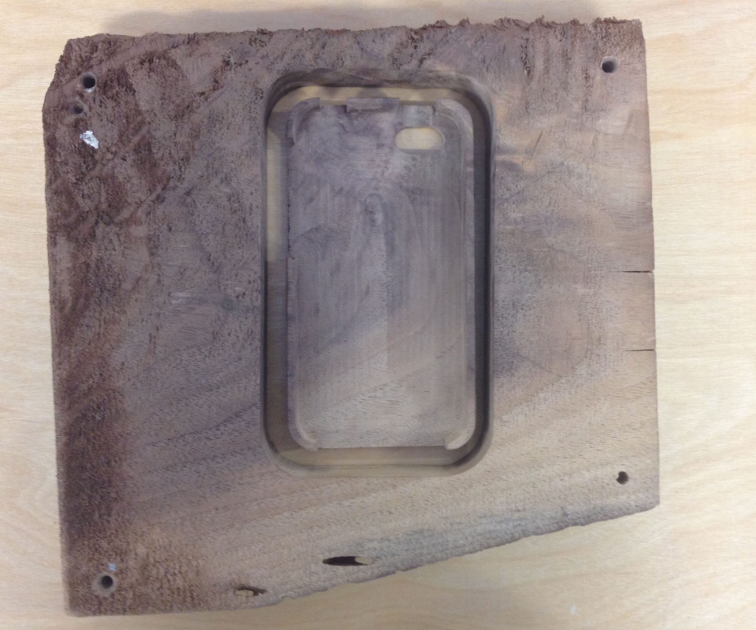 Wood iPhone Case Made at TechShop Chandler With No 3-D Software