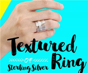 DIY Tutorial - How to Make a Textured Ring With Sterling Silver!??