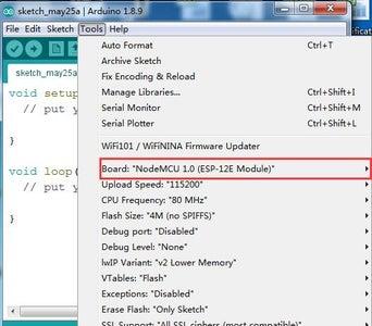 Add the ESP8266 Core Into Arduino IDE