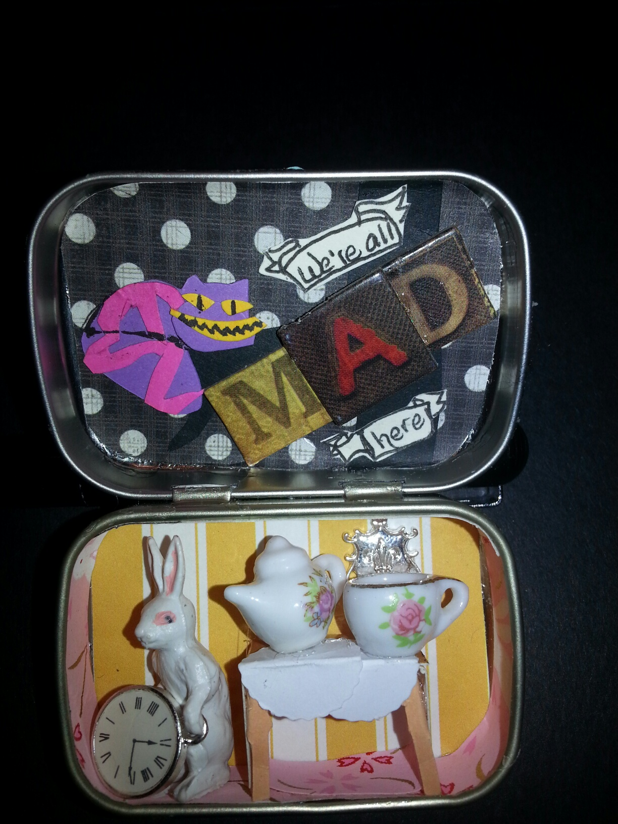 Alice's Wonderland in a Tiny Tin Gift