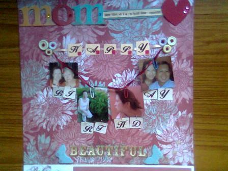 mom's birthday scrapbook