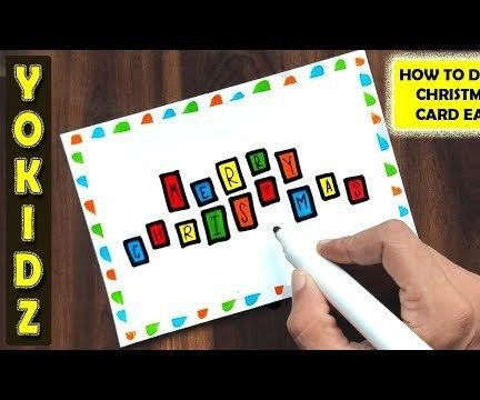 HOW TO DRAW CHRISTMAS CARD EASY