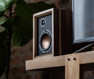 核桃和铜DIY扬声器